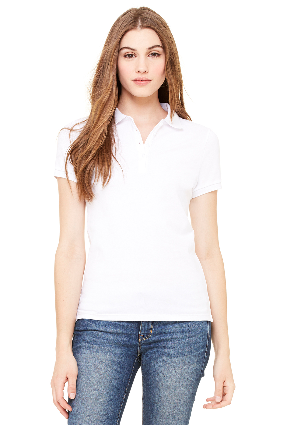 0750 Women s Cotton Spandex Mini Pique Short Sleeve Polo 7263283f23