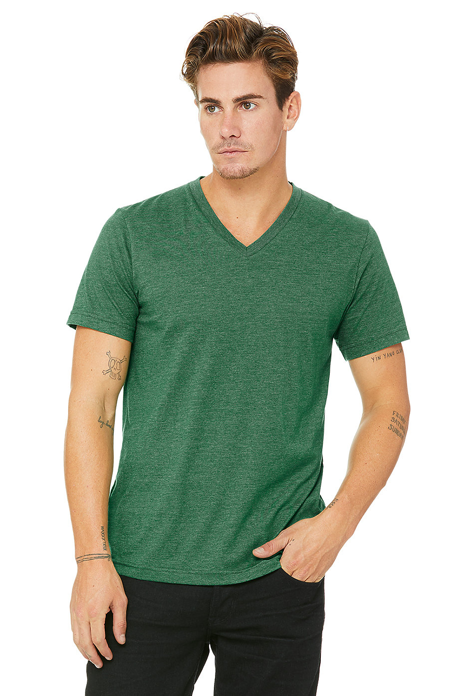 Deep V Shirt Men