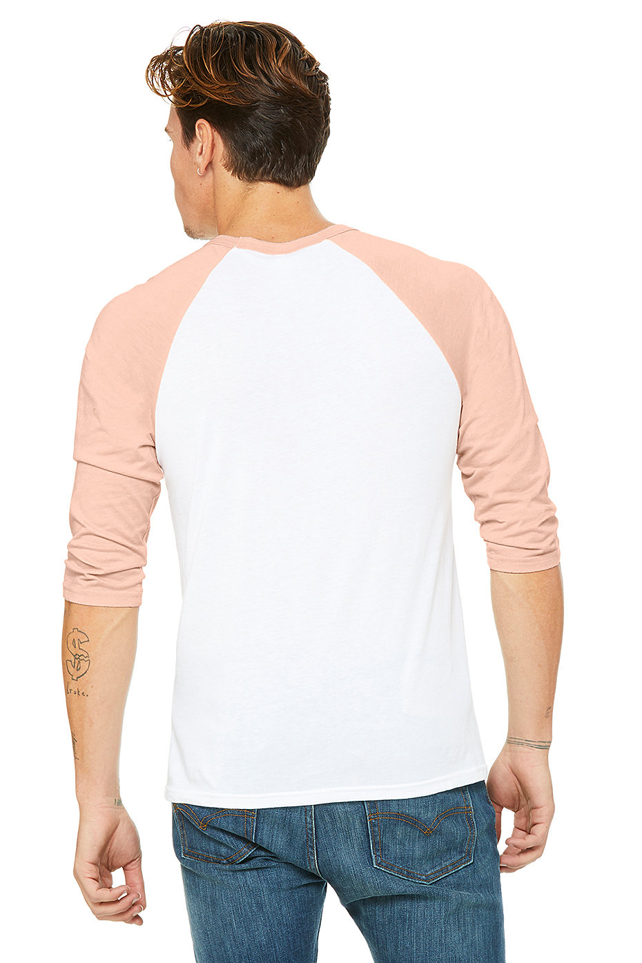 Unisex 34 Sleeve Baseball Tee Bella Canvas Bella Canvas