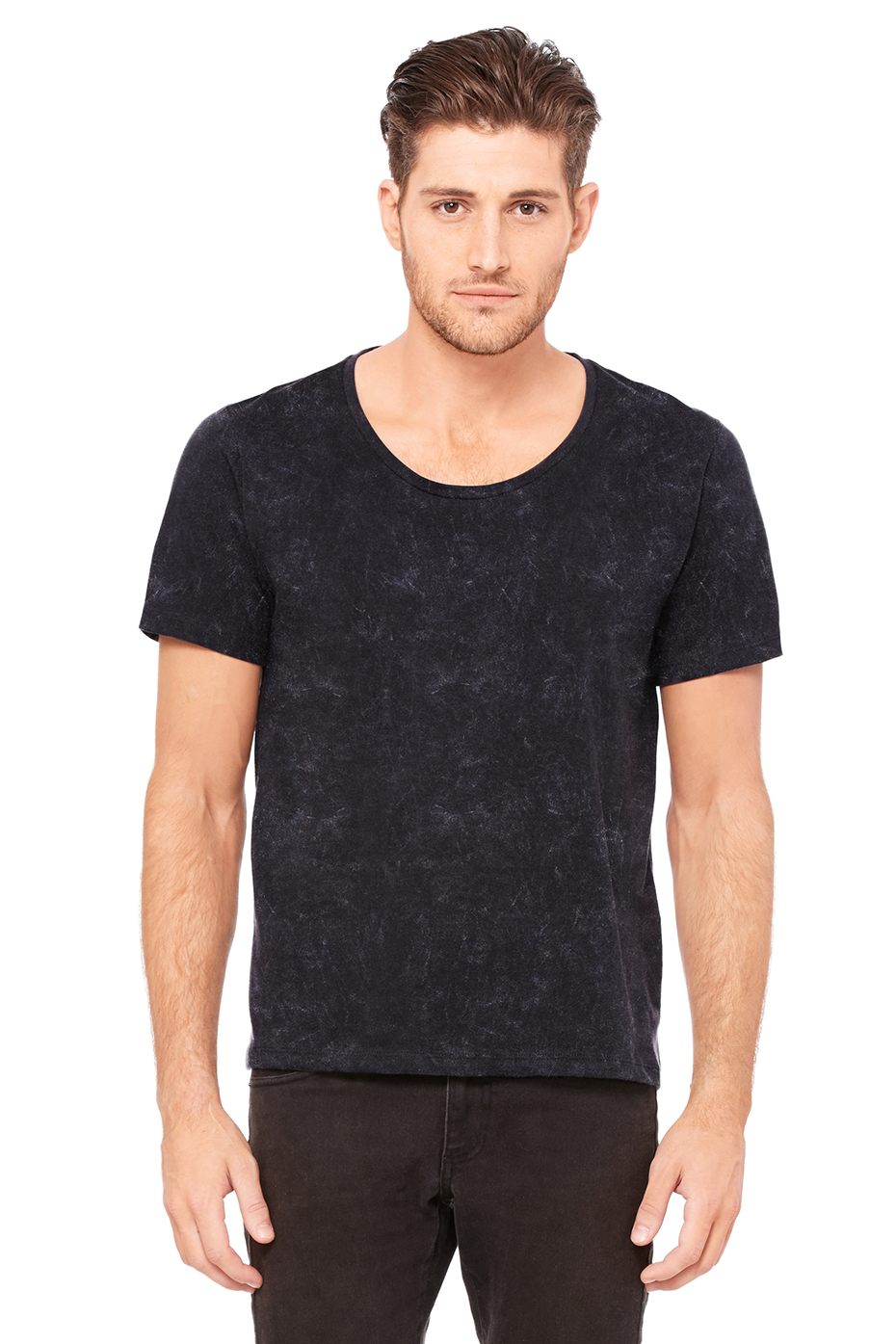 Wide Neck T Shirt Men
