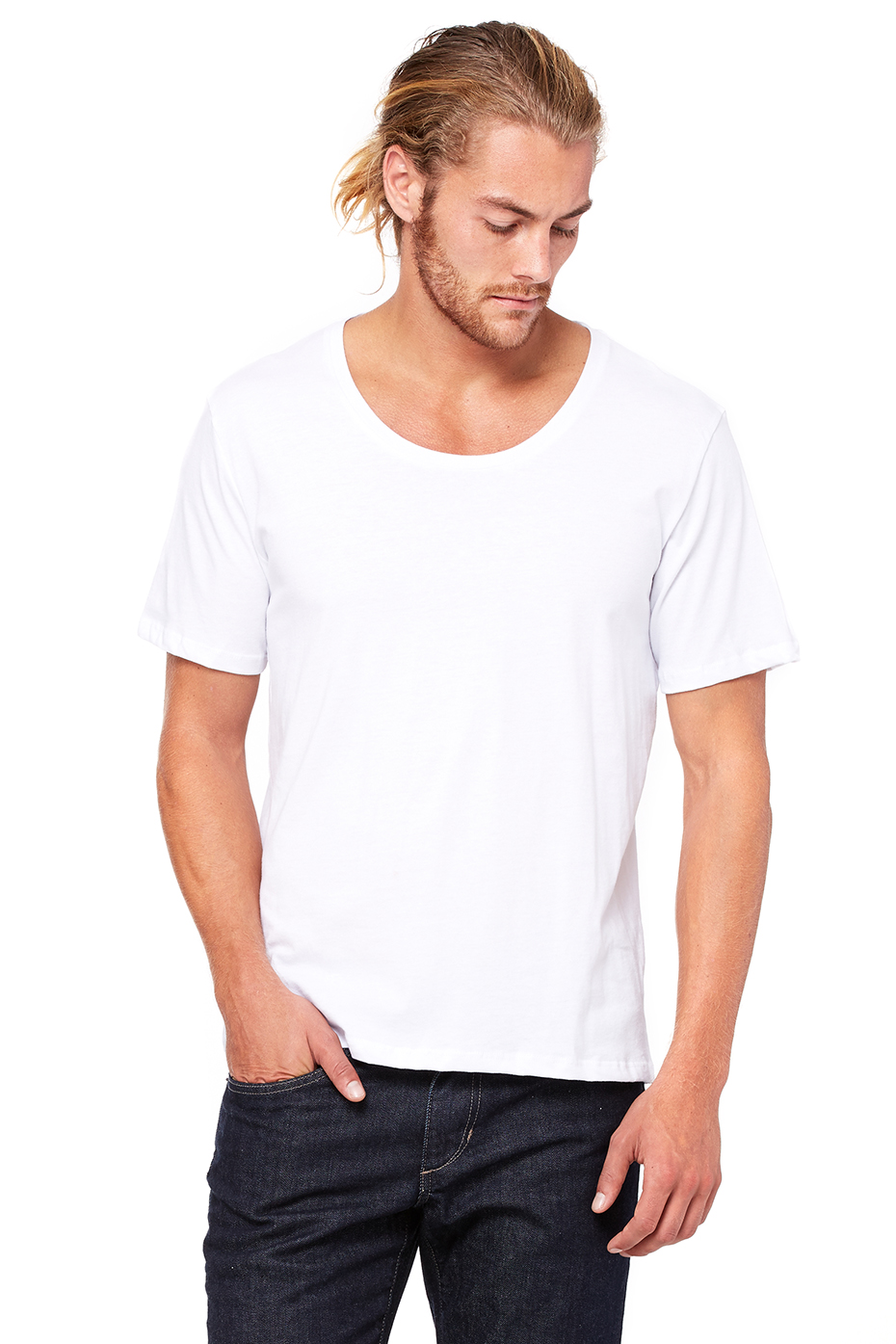 Scoop Neck T Shirt Mens