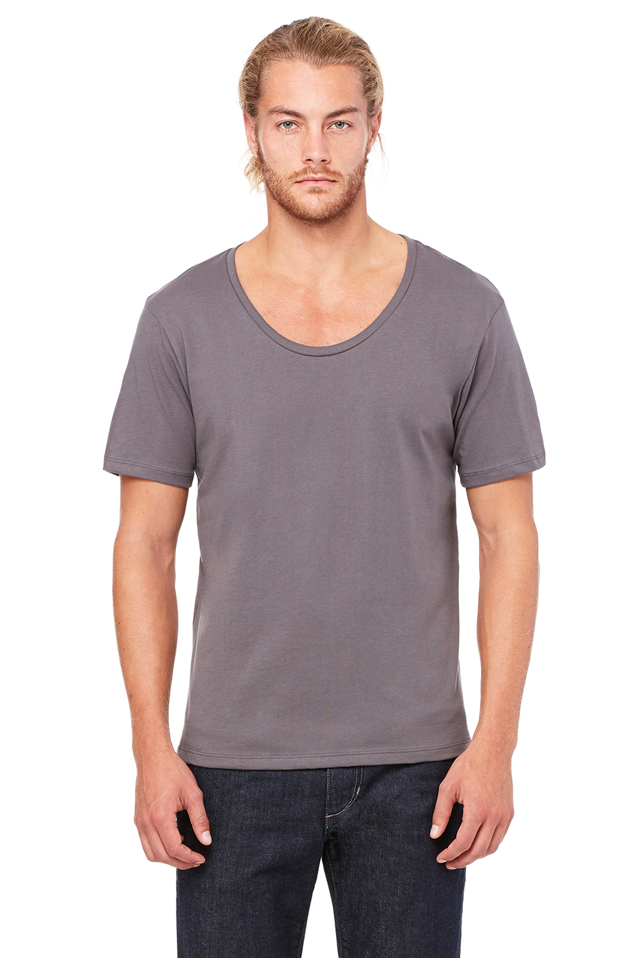 Men 39 S Wide Neck Tee Bella Canvas