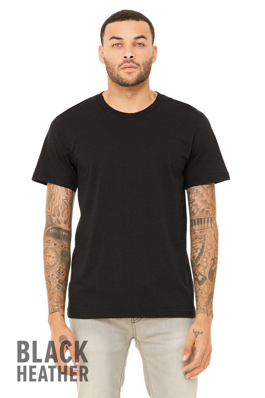 Black t shirt unisex - Colors Available Grey Triblend