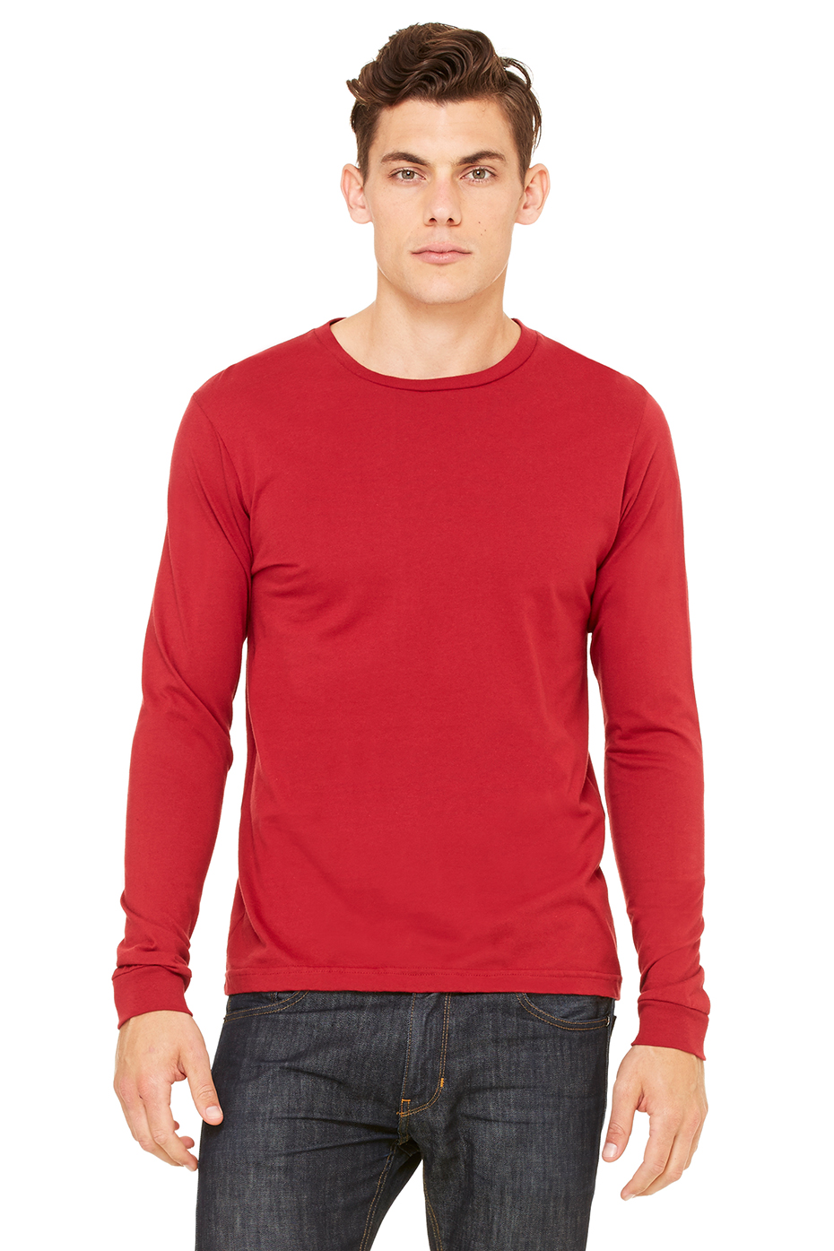 Mens Red Long Sleeve T Shirt