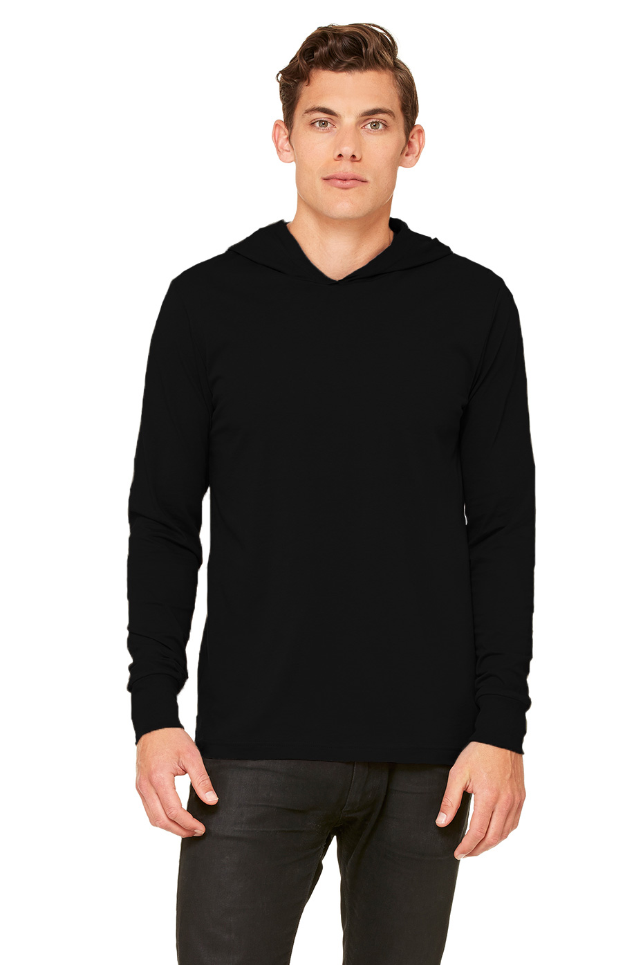 Black t shirt hoodie - Colors Available White