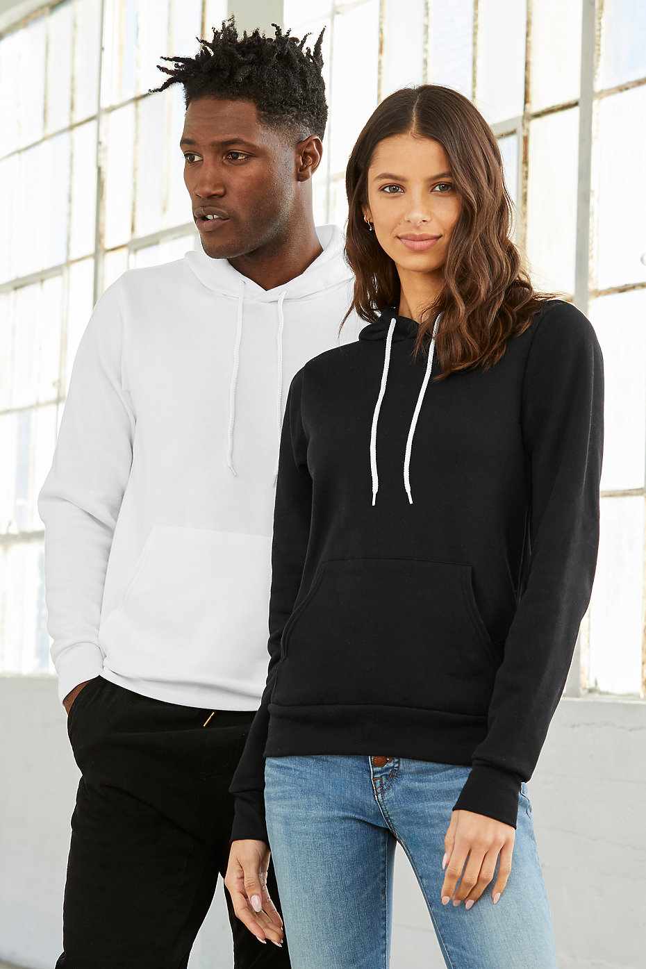 Canvas Unisex Poly-Cotton Fleece Pullover Hoodie Sweatshirt Bella