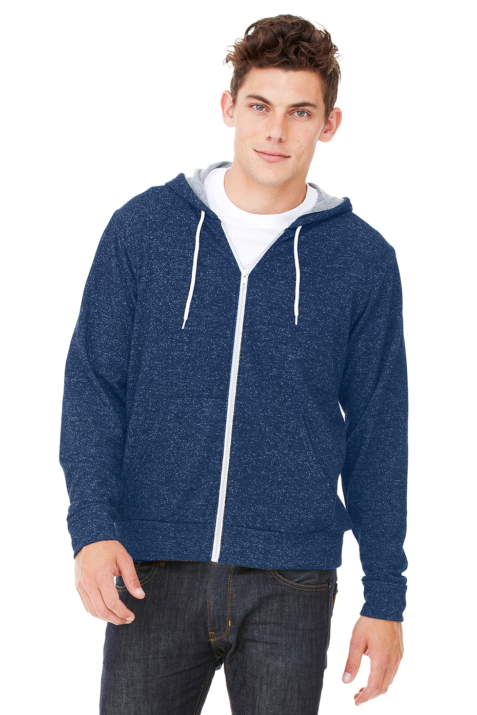 Blue Flamming Nike Hoodie W/ White Strings | Ⓡ