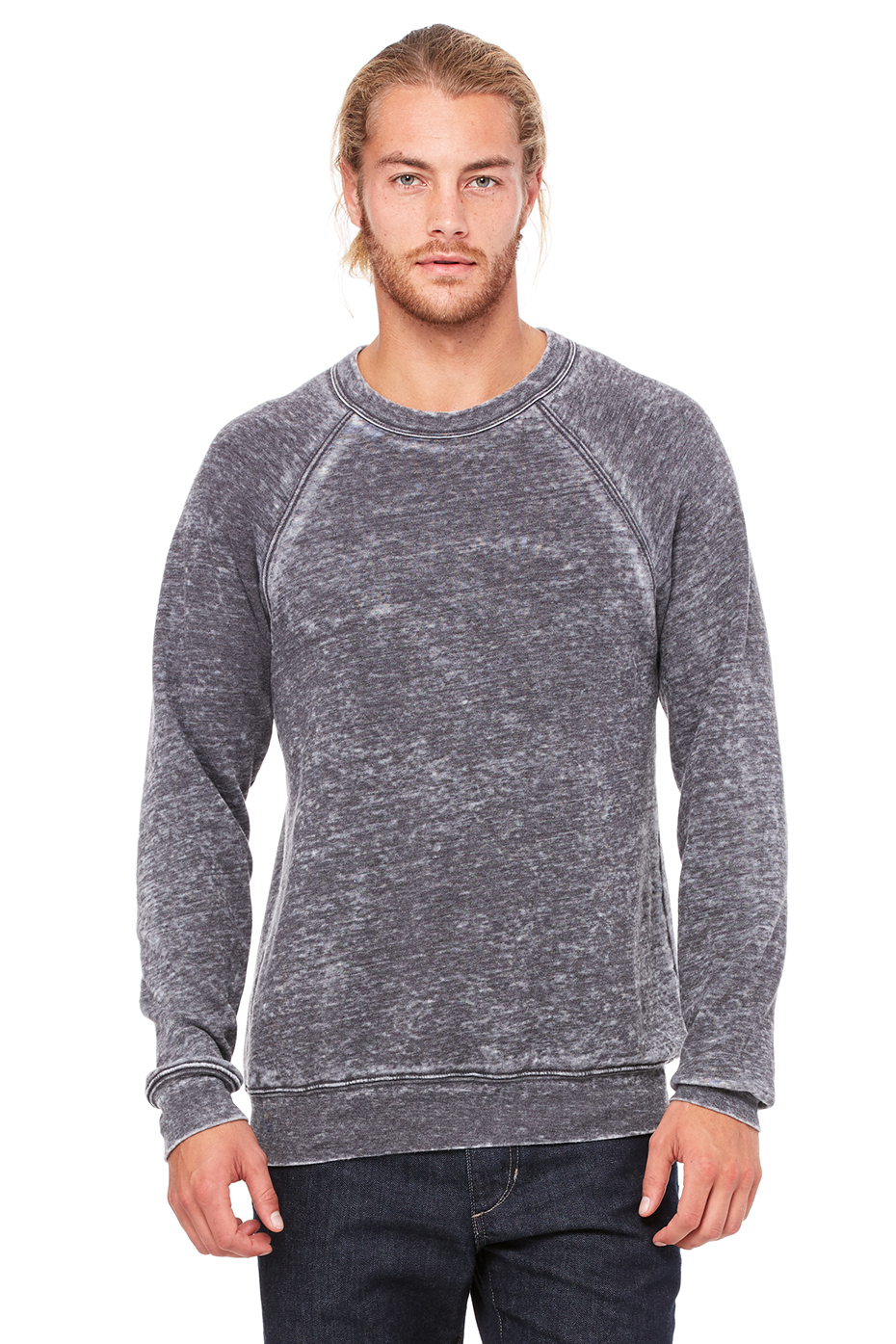 Unisex Sponge Fleece Raglan Sweatshirt | Bella-Canvas