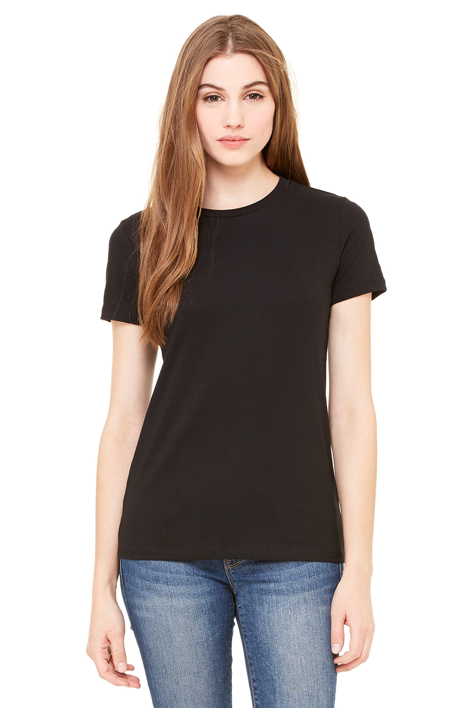 Women 39 s the favorite tee bella canvas for Womens black tee shirt