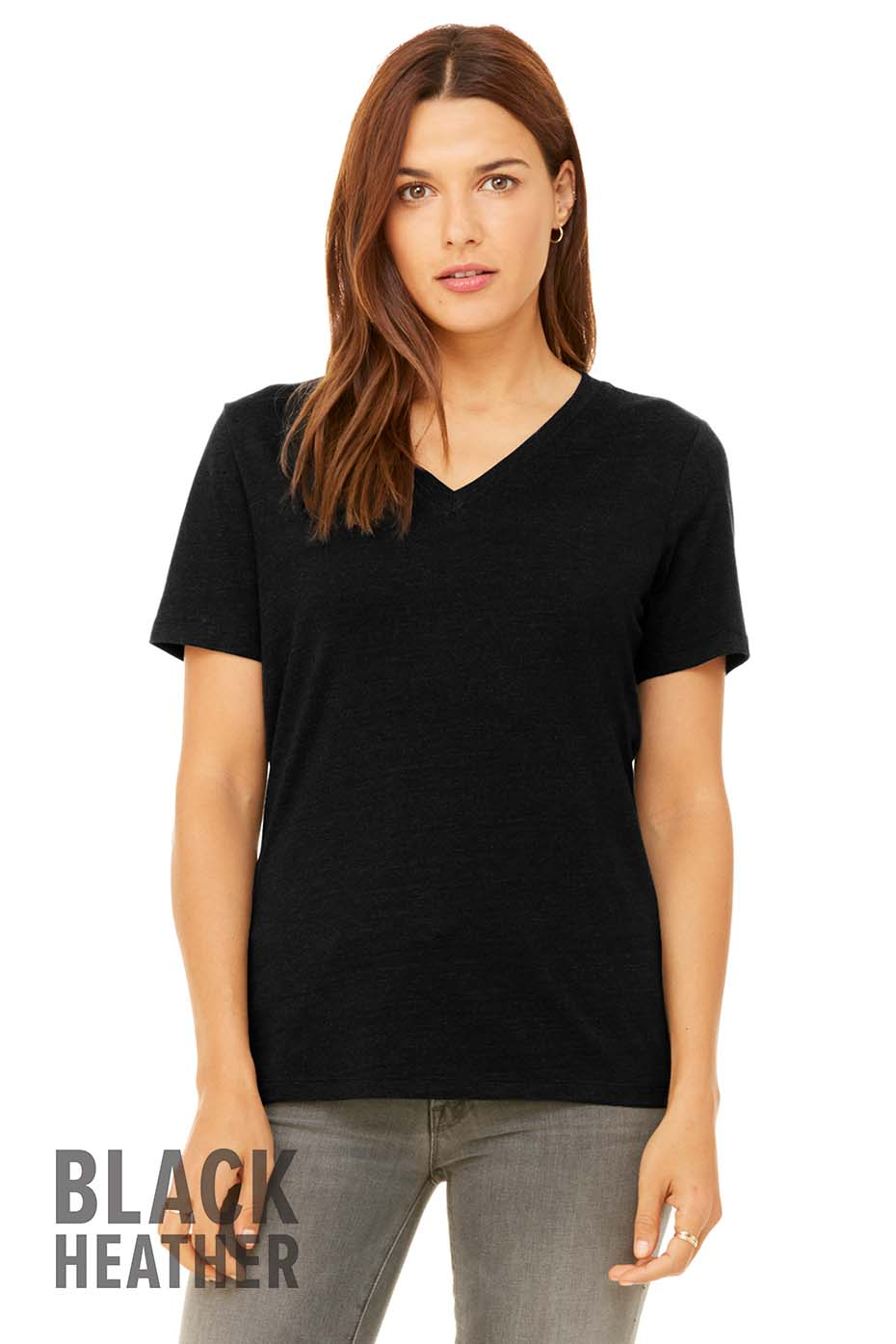 ef203389775 6405 Women s Relaxed Jersey Short Sleeve V-Neck Tee
