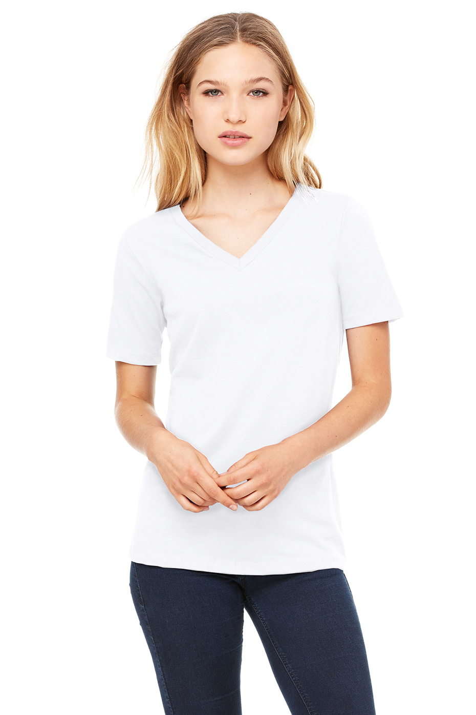 Women S Fashion Clothes Missguided: Women's Relaxed Jersey Short Sleeve V-Neck Tee