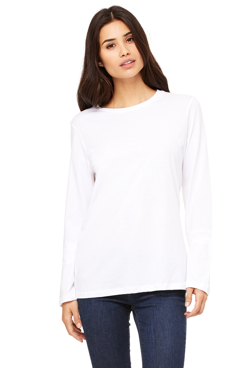 9a597429bc84 Women's Relaxed Jersey Long Sleeve Tee | Bella-Canvas | Bella Canvas