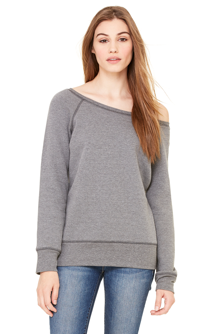 Women's Sponge Fleece Wide Neck Sweatshirt | Bella-Canvas