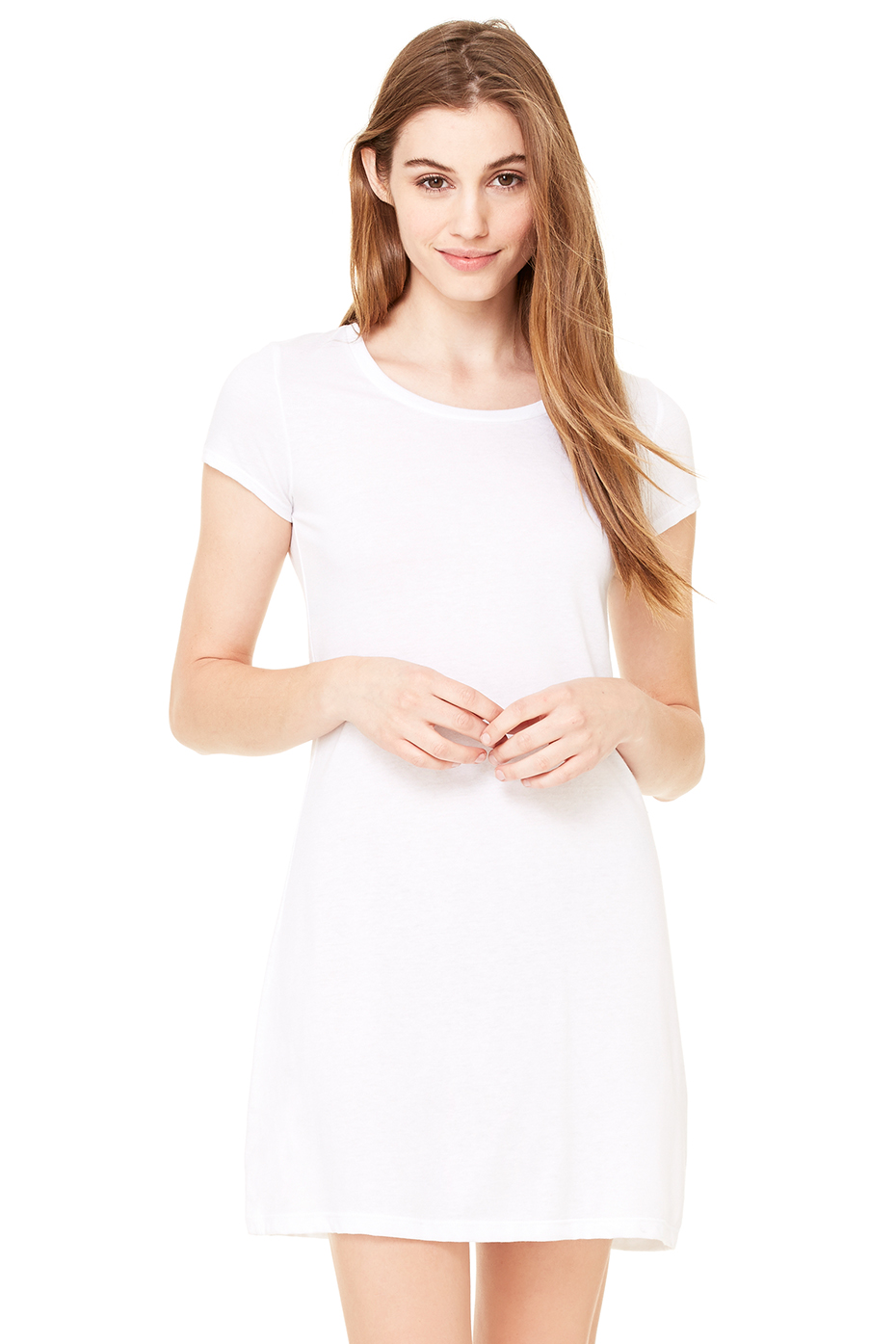 Women 39 S Vintage Jersey Short Sleeve T Shirt Dress Bella