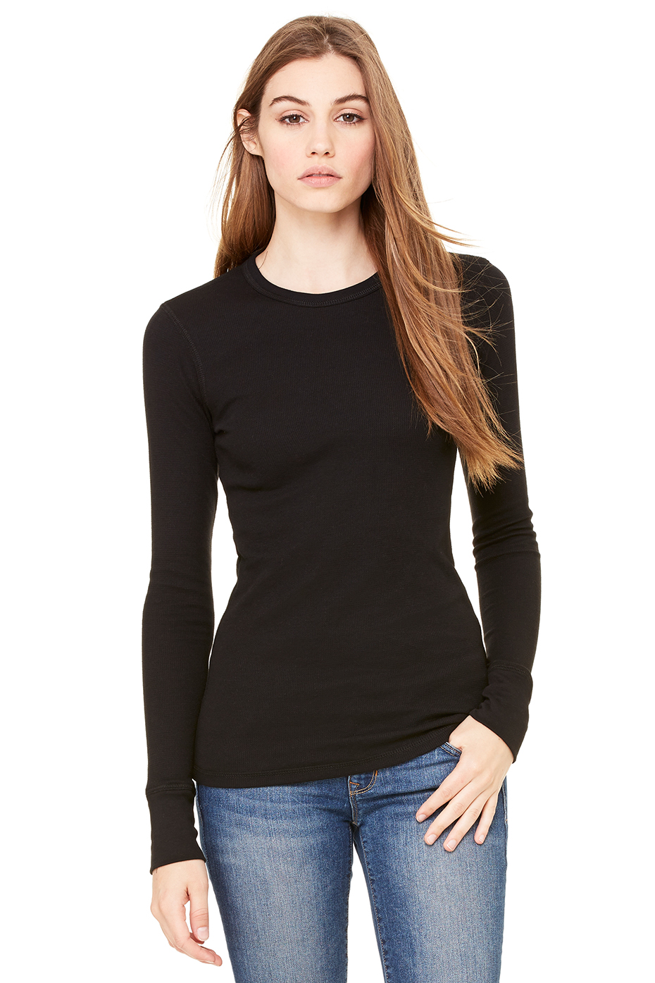 Wholesale clothing women 39 s thermal l s tee for Thermal shirt for women