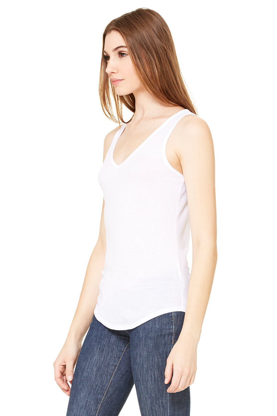 edfcd576 Women's Flowy V-Neck Tank | Bella-Canvas | Bella Canvas