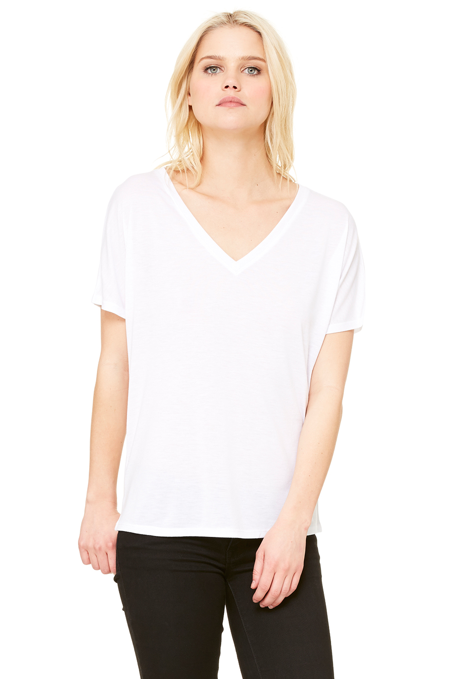 Women S Slouchy V Neck Tee Bella Canvas
