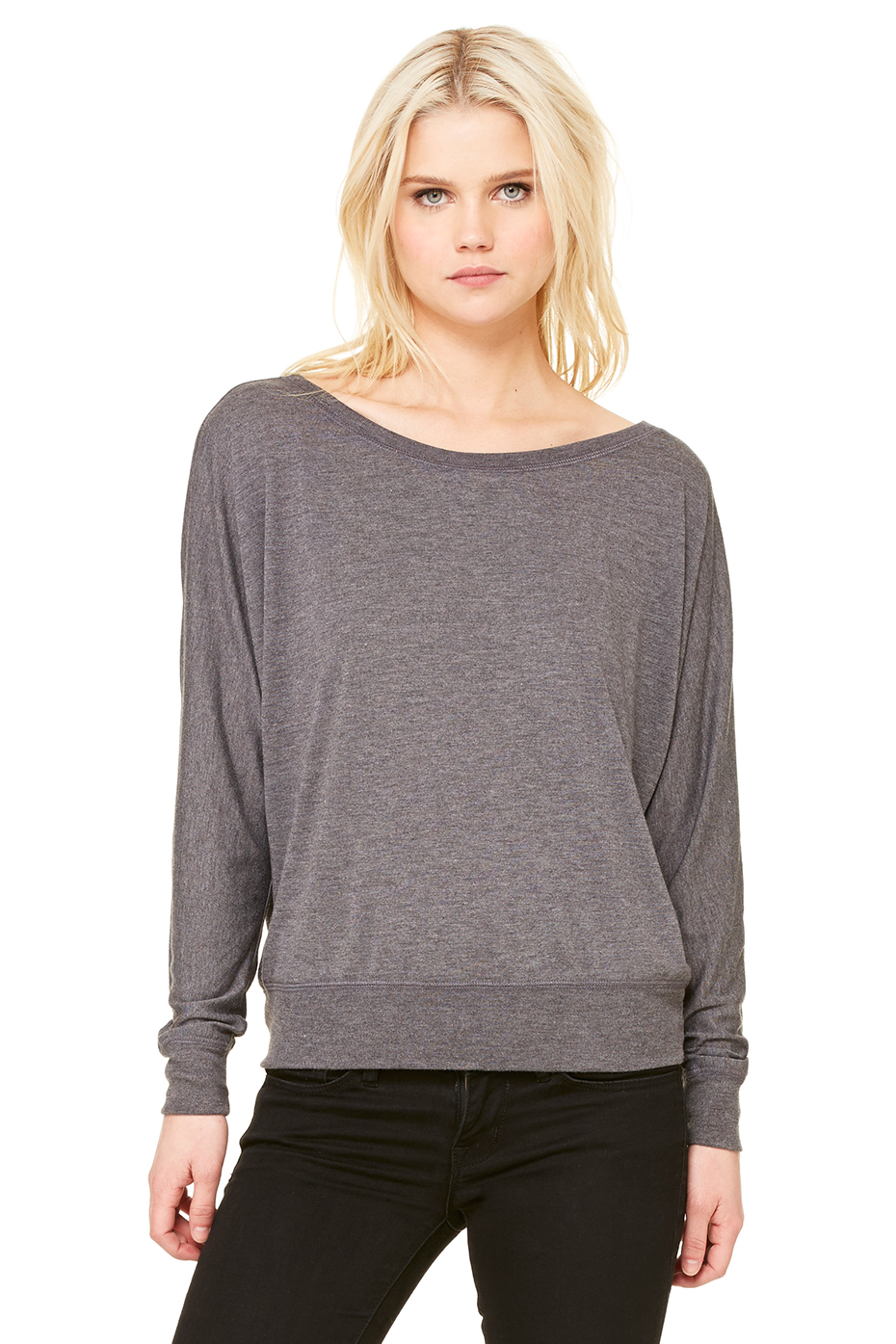 Women's Flowy Long Sleeve Off Shoulder Tee | Bella-Canvas