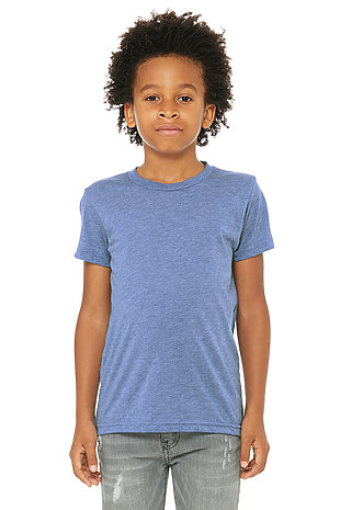 Bella+Canvas Youth Boys Girls Kids Triblend Short Sleeve Tee t-Shirt
