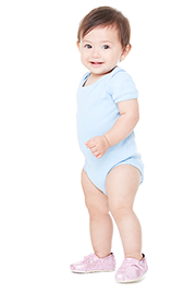 Baby Short Sleeve Baby Rib One Piece