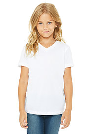 Youth Jersey Short Sleeve V-Neck Tee