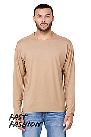 Unisex Triblend Raw Neck Long Sleeve Tee