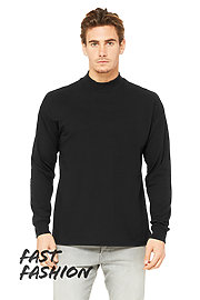 Unisex Mock Neck Long Sleeve Tee